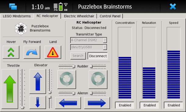 Puzzlebox Software IDE Interface