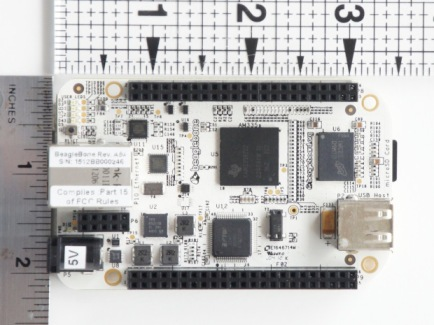 BeagleBone  It's the low cost, high-expansion hardware-hacker focused BeagleBoard for people that love embedded Linux systems. Basically a bare bones BeagleBoard, it can run all by itself or act as a USB or Ethernet connected expansion for your current BeagleBoard or BeagleBoard-xM