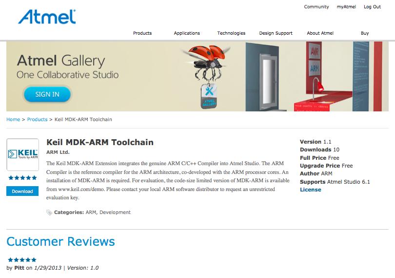 Keil MDK-ARM Toolchain   Atmel   Bits & Pieces