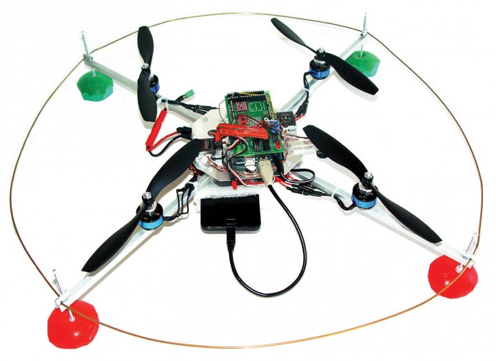 This drone is powered by an Arduino and smartphone