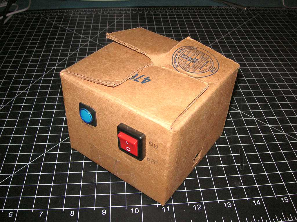 Arduino In A Cardboard Box Atmel Bits Amp Pieces