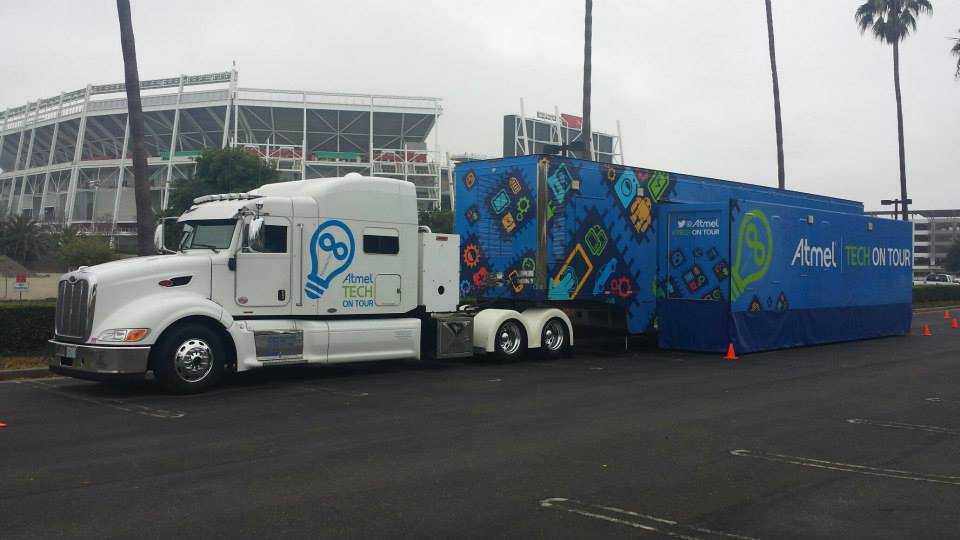 Earlier this year during DesignCon, our Tech on Tour mobile trailer made a special stop outside of the 49ers 'smart home.'
