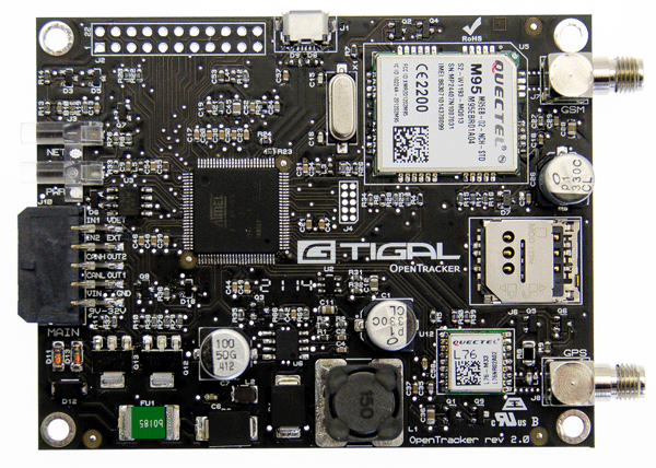 Opentracker v is a sam c based gps and glonass tracker