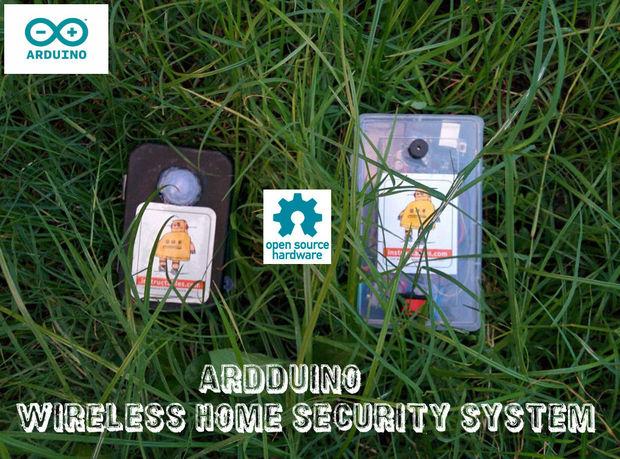build your own wireless home security system with arduino atmel bits pieces. Black Bedroom Furniture Sets. Home Design Ideas
