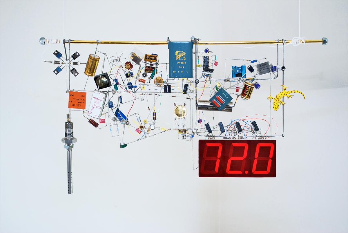 Electronic Component Art Sculptures Atmel Bits Pieces Thermometer Circuit Diagram Jim Williams Sculpture
