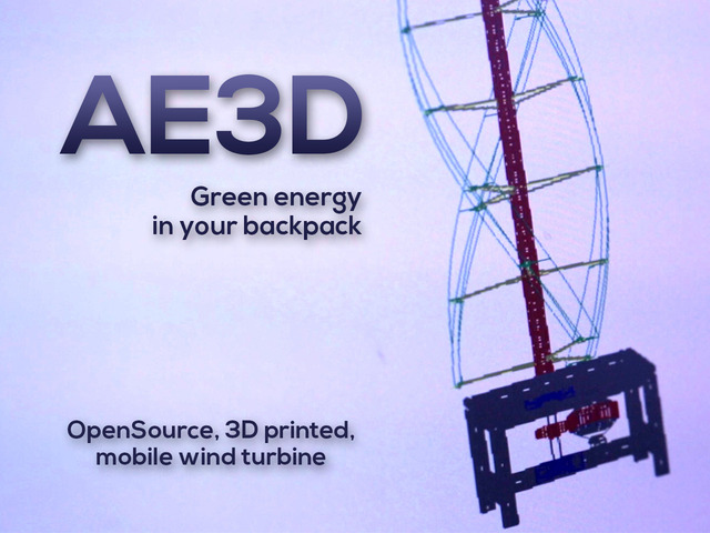 3D-printed wind turbine puts 300W of power in your bag