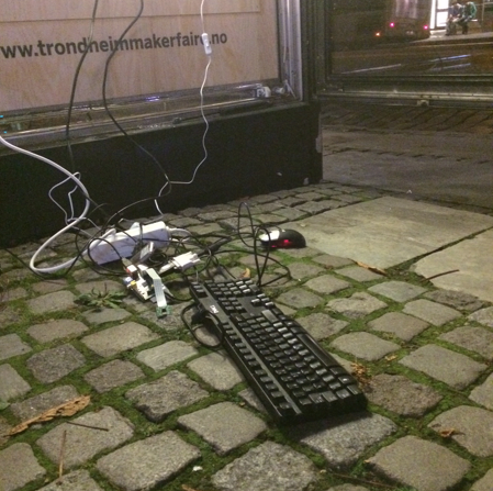 Just some cobblestone and cables...