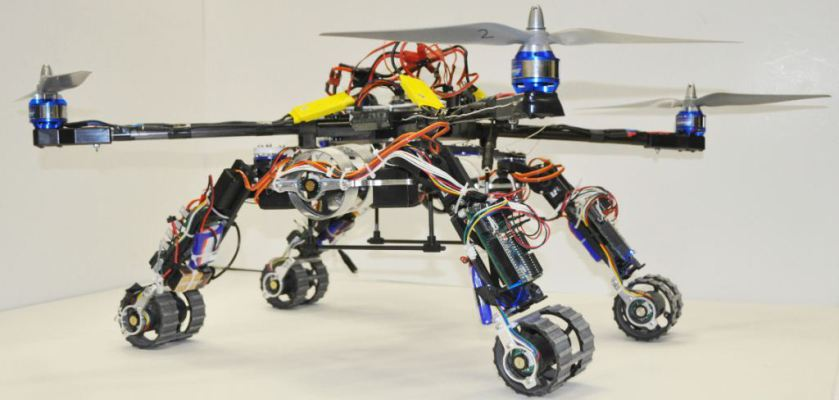 Students design a hybrid exploration robot with arduino