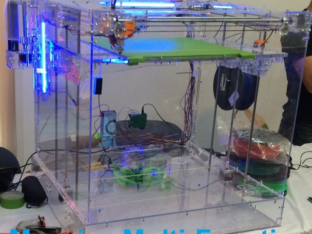 The 3-in-1 Stingray 3D Printer is powered by ATmega2560