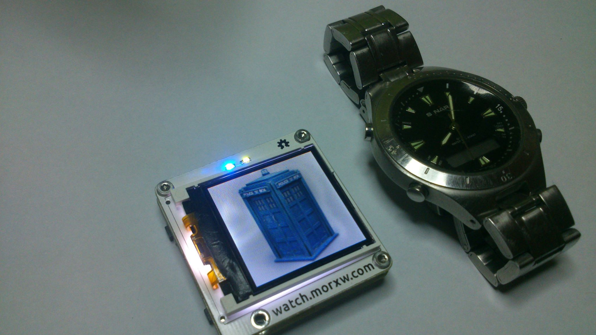 Tardis is an arduino compatible smartwatch atmel bits
