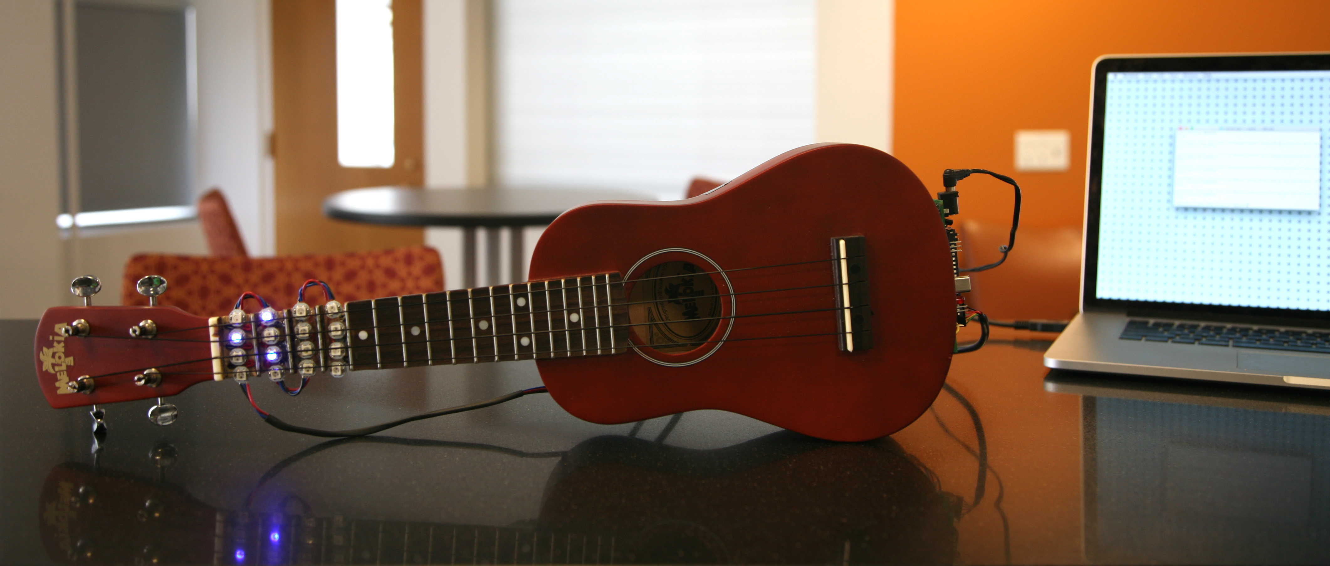 This Embedded Ukulele Can Teach You To Play Chords And Songs Atmel