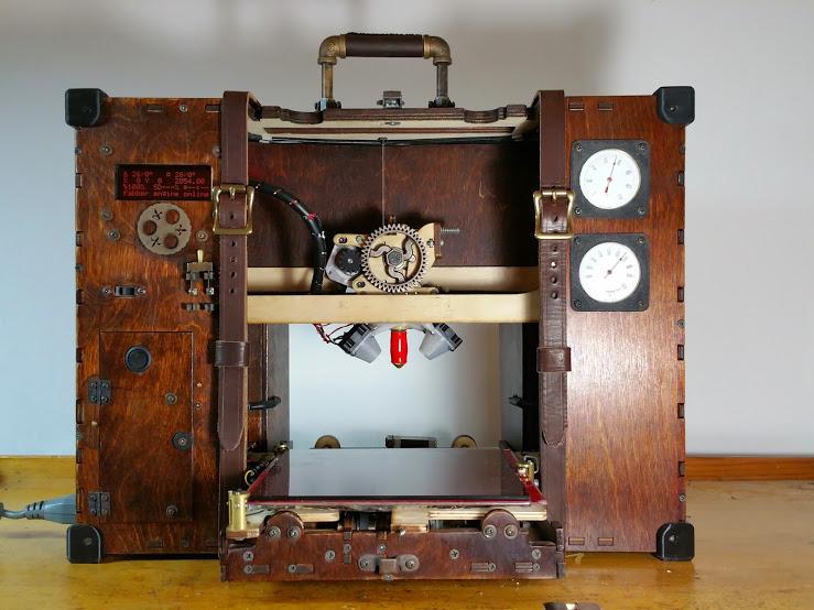 Maker creates an impressive Steampunk-inspired 3D printer