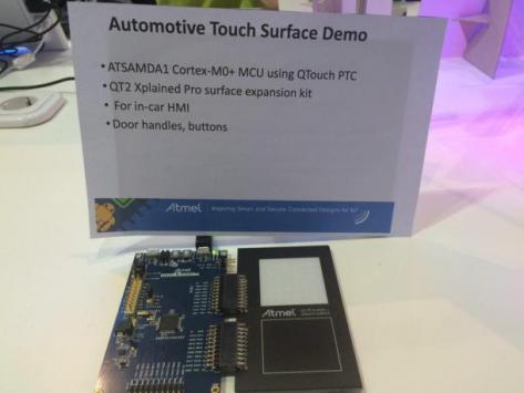 Atmel-Automotive-Touc-Surface-Demo-PTC demo board