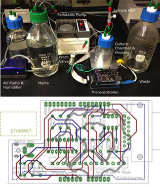 Synthetic biologists Sauls et al. provide open-source schematics for creating an Arduino-powered turbidostat to automate the culturing of cells with recombinant genes. [5]