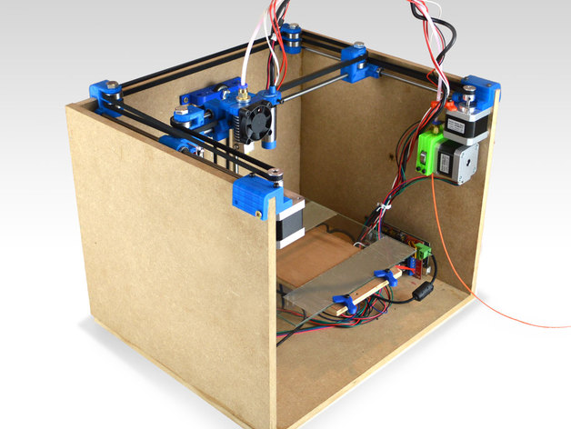 Smartrapcore is a low cost open source wooden box 3d for 3d printer build plans