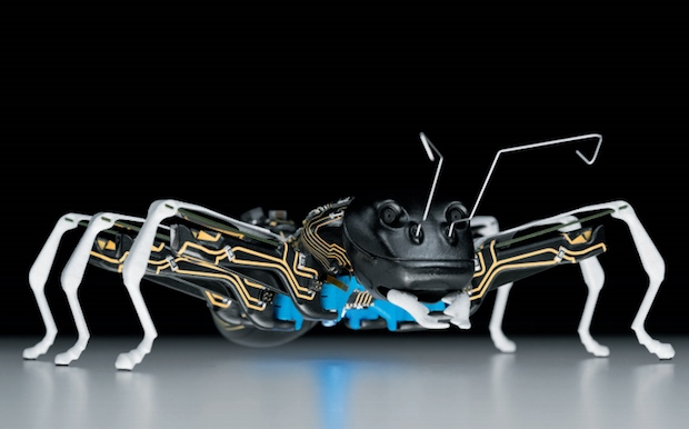 For the first time, the cooperative behaviour of the creatures is also transferred to the world of technology using complex control algorithms. (Source: Festo)