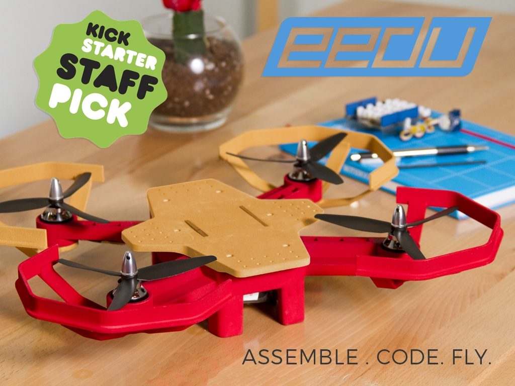 Eedu Is An Easy To Use Drone Kit For Young Makers Atmel Bits
