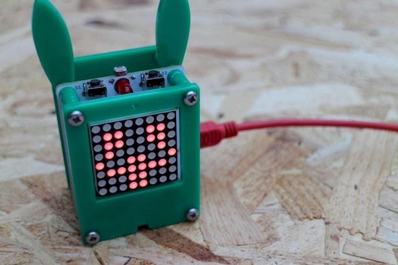 Petduino is an arduino powered virtual pet atmel bits