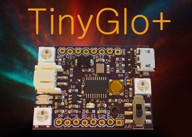 TinyGlo-Arduino-Compatible-Development-Board