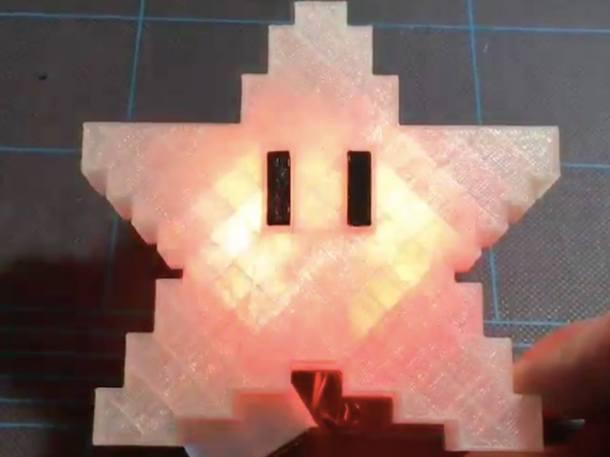 Starduino is an 8-bit Super Mario treetopper