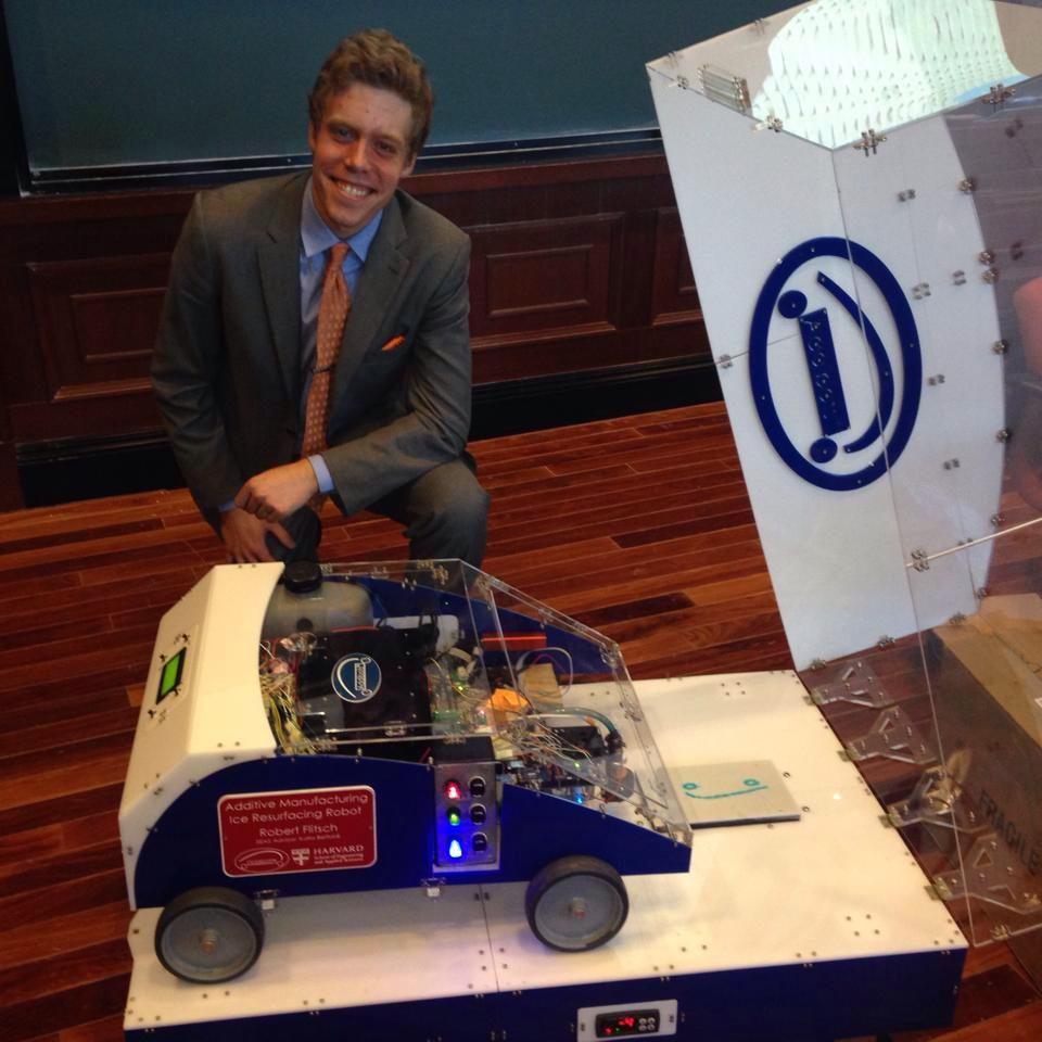 CEO Robert Flitsch with Ice Resurfacing Addibot