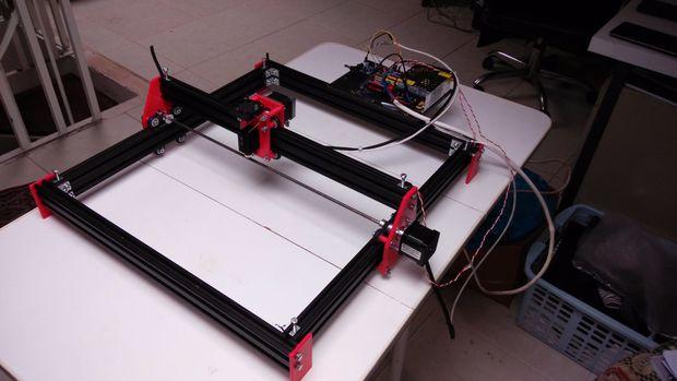 Arduino laser engraver atmel bits pieces